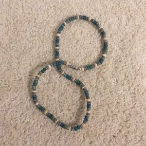 Other - Green and yellow beaded necklace